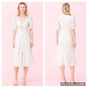 Rebecca Taylor Yarn Dyed Stripe Dress